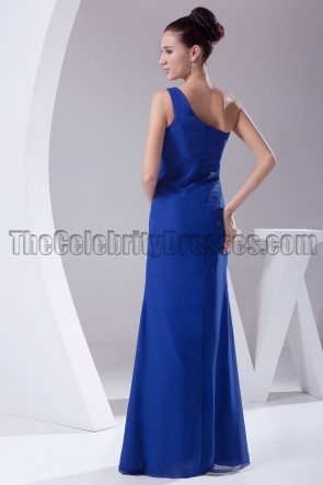 Royal Blue One Shoulder Evening Dresses Formal Gown
