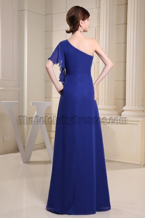 Discount Royal Blue One Shoulder Prom Dress Evening Dresses