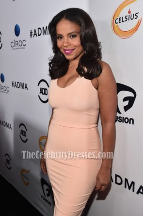 Sanaa Lathan Scoop Party Dress Red Carpet Cocktail Dresses ALL Def Movie Awards TCD6808