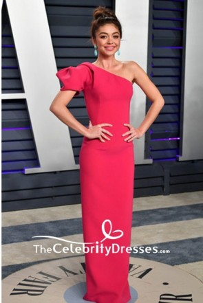 Sarah Hyland One-shoulder Sheath Formal Dress 2019 Vanity Fair Oscar party