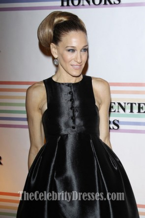 Sarah Jessica Parker Chic Black Prom Dress 34th Kennedy Center Honors