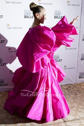 Sarah Jessica Parker Pink Ball Gown Ballet Fall Fashion Gala TCD8668