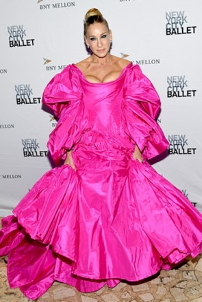 Sarah Jessica Parker Pink Ball Gown Ballet Fall Fashion Gala