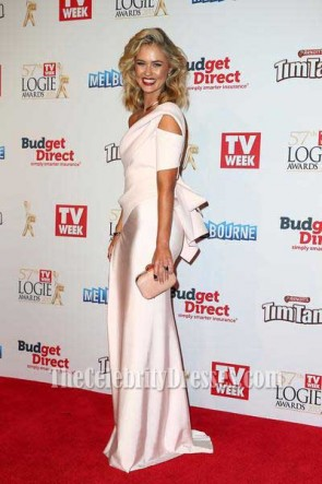 Scherri-Lee Biggs Thigh-high Split Evening Dress 2015 TV Week Logies TCD7394