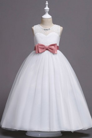 Sleeveless A-line Junior Bridesmaid Dress