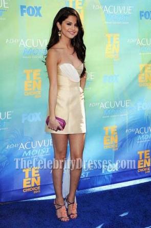 Selena Gomez Short Party Dress 2011 Teen Choice Awards Pals Blue Carpet