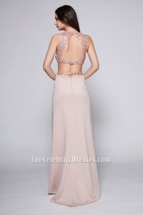 Sexy Backless Two Pieces Evening Party Dresses TCDBF096