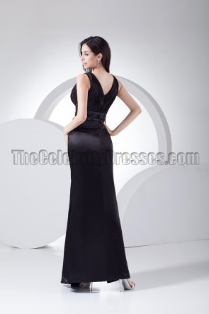 Sexy Black Deep V-Neck Evening Dress Prom Gown