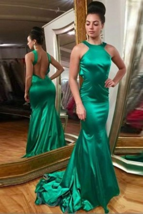 Sexy Hunter Mermaid Long Prom Dress