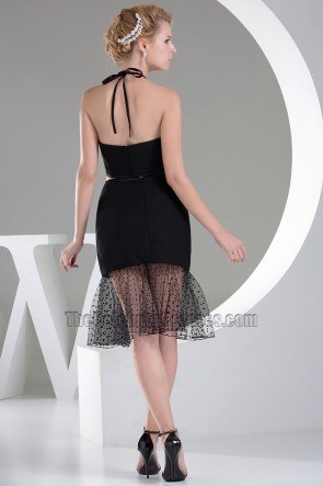 Sexy Little Black Two Pieces Party Cocktail Homecoming Dresses