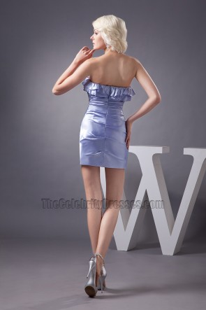 Sexy Mini Lavender Strapless Party Homecoming Dresses
