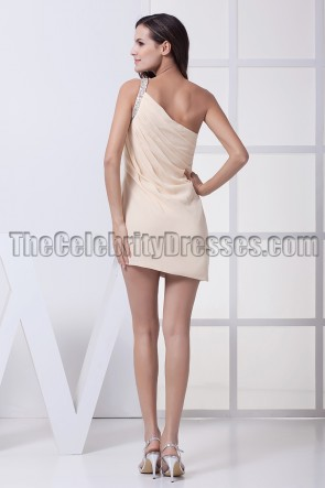 Sexy Mini One Shoulder Chiffon Party Homecoming Dresses