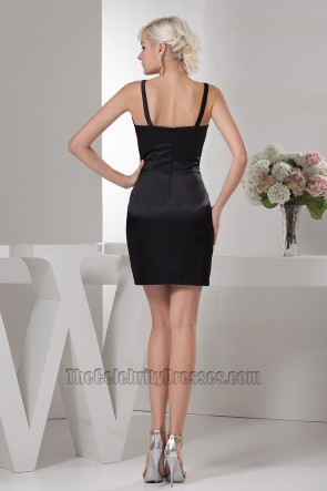 Sexy Sheath/Column Short Mini Black Party Cocktail Dresses
