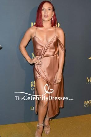 Sharna Burgess Spaghetti Straps Slip Cocktail Dress Maxim Hot 100 Experience