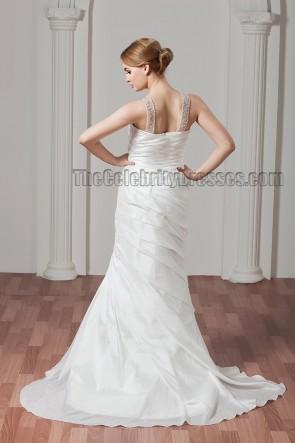 Sheath/Column Beaded Sweep/Brush Train Wedding Dresses