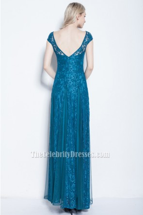 Sheath/Column Lace Formal Prom Gown Evening Dresses TCDBF029