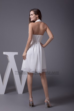 Discount Short A-Line Halter Chiffon Cocktail Party Dresses