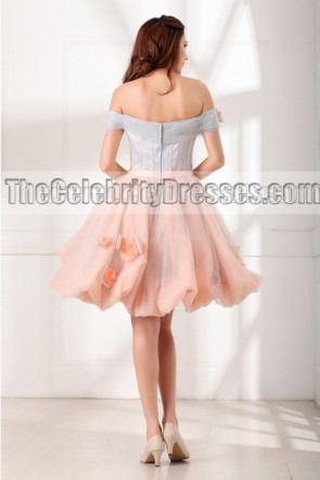 Sweet Sixteen Dresses For Sale Short A-line Off-the-shoulder Cocktail Part Dress TCD6990