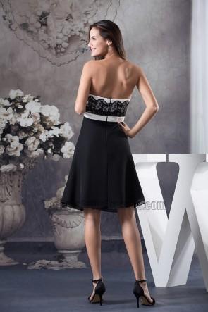 Short Strapless Black Party Cocktail Graduation Dresses