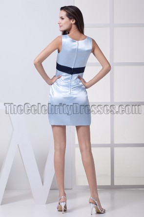 Short Mini Light Sky Blue Party Cocktail Graduation Dresses