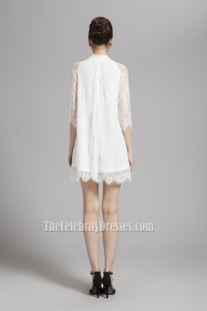Gorgeous Short Mini White Lace Party Homecoming Dresses