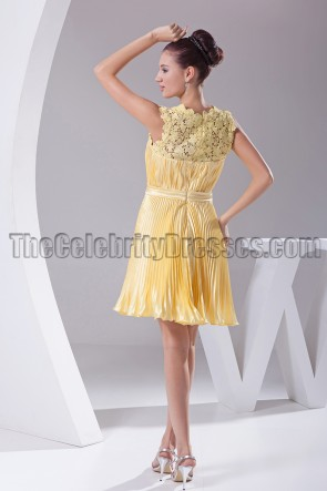 Short Yellow Lace Party Homecoming Graduation Dresses