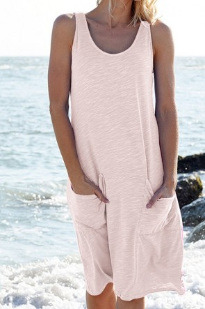 Sleeveless Pockets Tank Dress