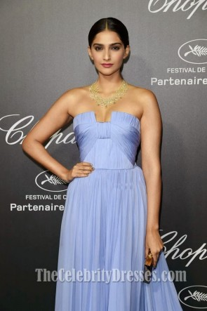 Sonam Kapoor Lavender Evening Prom Dress Chopard backstage party Dresses