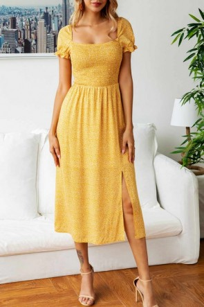 Square Neck A-line Dress