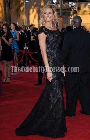 Stacy Keibler Black Lace Prom Formal Dress 2012 SAG Awards