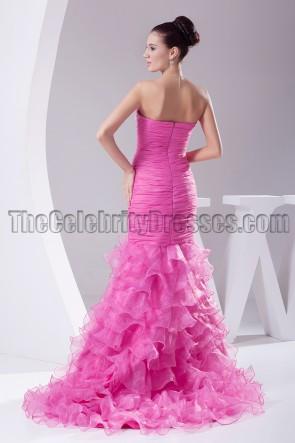 Fuchsia Strapless Mermaid Formal Dress Evening Gown