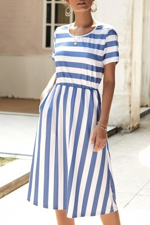 Striped Scoop Tee Dress