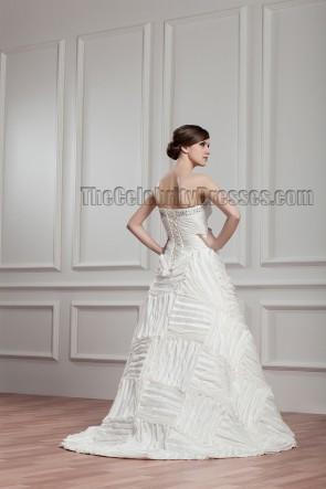 Sweep/Brush Train Strapless Sweetheart Beaded Lace Up Wedding Dress