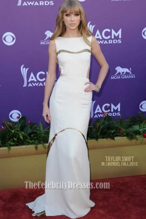 Taylor Swift Chic Prom Dress 2012 Academy Country Music Awards Red Carpet