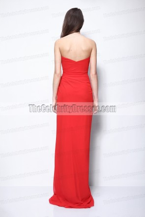 Taylor Swift Red Prom Evening Bridesmaid Gown 44th CMA Award Dress