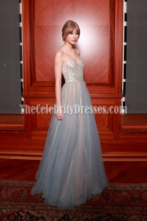 Taylor Swift A-Line Prom Dress Formal Gown annual Nashville Symphony Ball Red Carpet