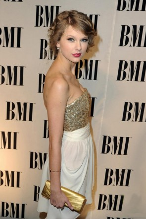 Taylor Swift Short Strapless Gold Sequined Homecoming Party Dresses