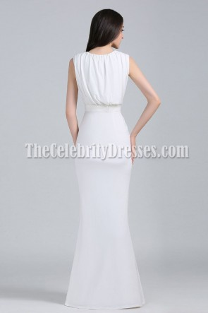 Angela Bellotte Sexy White Prom Formal Dress 2011 CFDA Awards