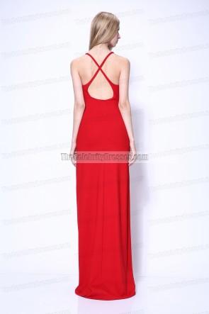 Jennifer Lawrence Red Prom Evening Dress 2011 Oscar Awards