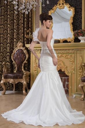 Trumpet/Mermaid One Shoulder Sweetheart Wedding Dresses