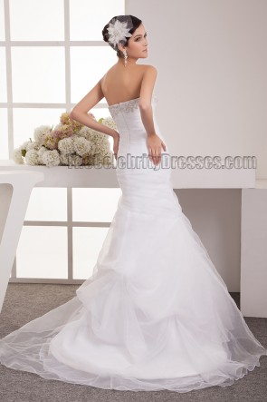 Trumpet/Mermaid Strapless Embroidered Wedding Dress Bridal Gown