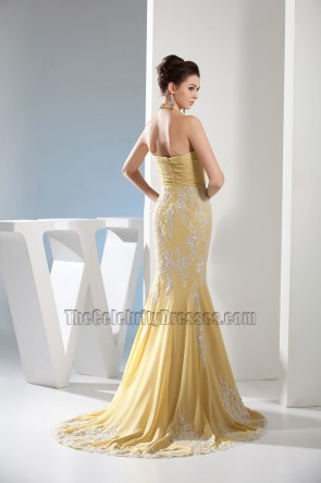 Trumpet/Mermaid Embroidery Chiffon Evening Dress Formal Gown