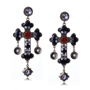 Vintage Baroco Style Cross Drop Earrings for Sale TCDE0057