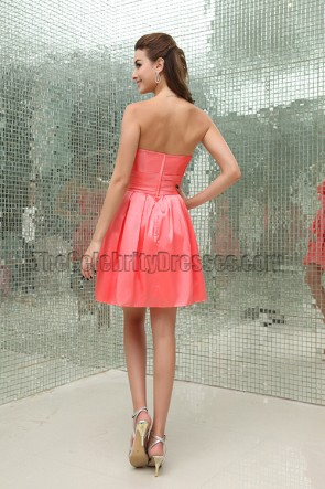 Watermelon Strapless A-Line Sweet 16 Party Dresses