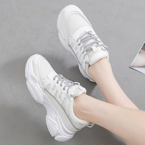 Women's Mesh Front Lace-up Sneakers