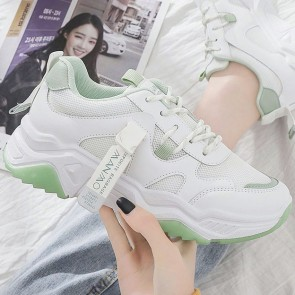 Women's Lace-up Front Chunky Sole Sneakers