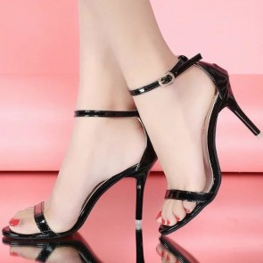Women's PU Stiletto Heel Sandals Open-toe With Buckle Shoes