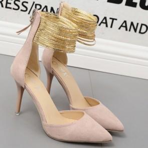 Women's Stiletto Heel Sandals Pumps Closed Toe For Wedding