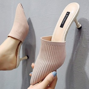 Women's Stiletto Heels Pointed Close-toe Shoes