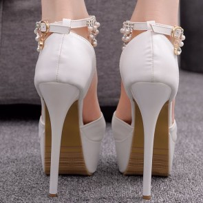 Women's Stiletto Heels Pumps Shoes With Platform For Wedding